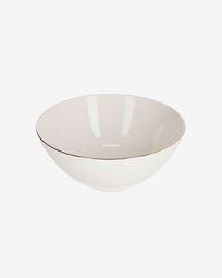 Bol mediano Taisia de porcelana blanco