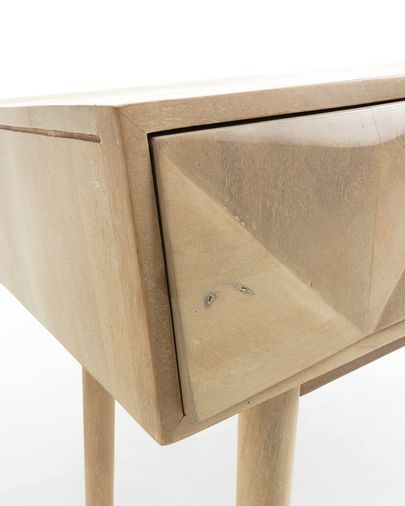 Consola Sarah 120 x 80,5 cm de madera maciza de mango tallada a mano