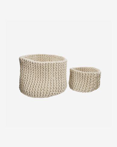 Zestaw Llucia 2 koszyki 100% bawełna biały