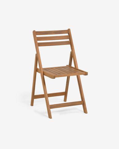 Sedia pieghevoli da esterno Daliana in legno massello di acacia