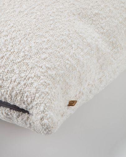 Funda cojín Vicka 60 x 60 cm blanco