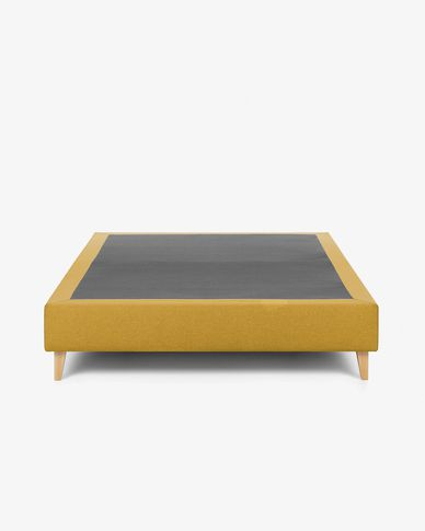 Bed base high Nikos 90 x 190 cm mustard