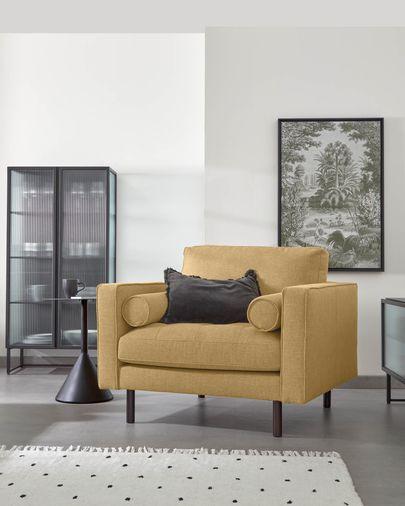 Debra mustard armchair