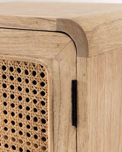 Mesita de noche Nalu de madera maciza de mindi 40 x 55 cm