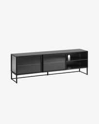 Mueble TV Trixie metal negro 180 x 58 cm