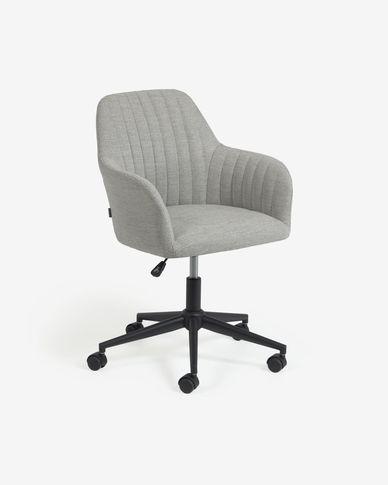 Sedia da scrivania Madina grigio chiaro