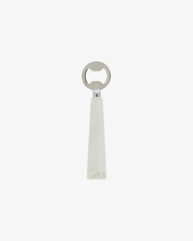 Bluma bottle opener in white marble