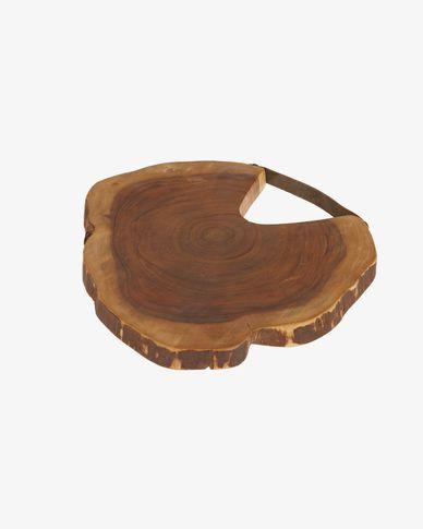 Taula de servir rodona Ledy fusta massissa acàcia