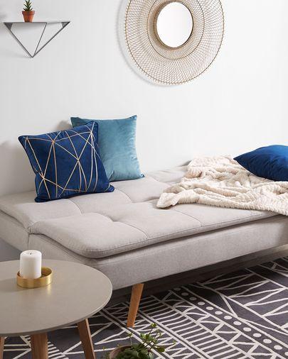 Fodera per cuscino Cerise 45 x 45 cm velluto blu scuro