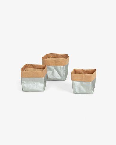 Set Kamori  3 manden zilveren