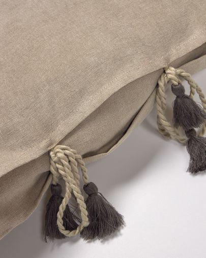 Bruine kussenhoes Varina van 100% katoen 45 x 45 cm