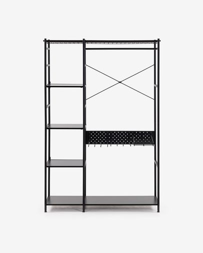 Armario abierto Storn acero con acabado negro 120 x 182 cm