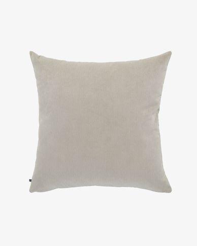 Fodera cuscino Namie 60 x 60 cm velluto a coste tortora