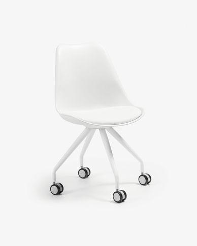 Chaise bureau Ralf blanc