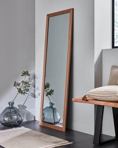 Wilany spiegel in notenhouten afwerking 52,5 x 152,5 cm