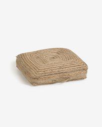 Coixí de sòl i palet Abir jute 63 x 63 cm