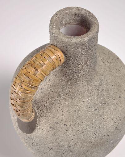 Agle grijze keramische vaas 35 cm
