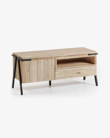 Mueble TV Thinh 125 x 53 cm de madera maciza de acacia