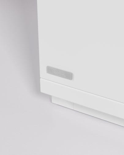 Aparador Abilen chapa roble y lacado blanco 180 x 75 cm FSC 100%