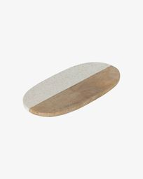 Augustinus graniet en houten serveerplank