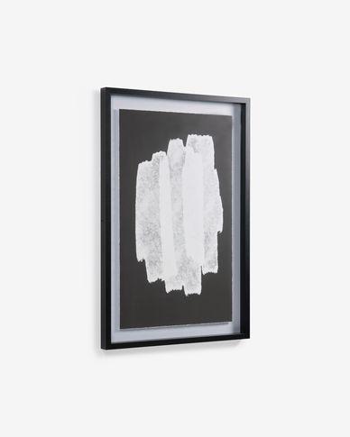 Schilderij Moad in zwart en wit 60 x 90 cm