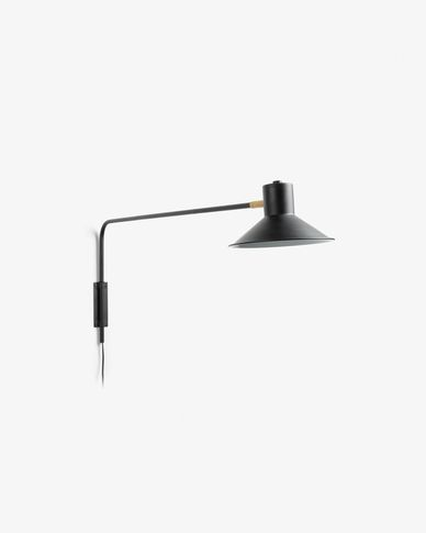 Aria wall lamp black