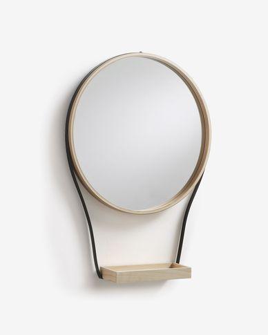 Espejo Barker de acero 47 x 64 cm