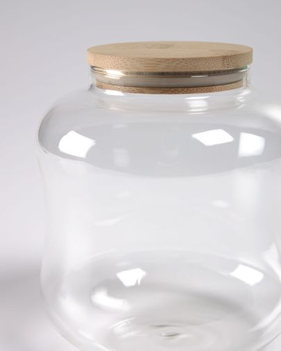 Small Cirene transparent glass jar