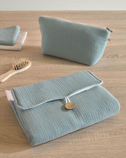 Trousse de toilette Breisa 100% coton (GOTS) turquoise