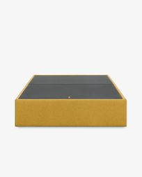 Storage bed base Matter 160 x 200 cm mustard