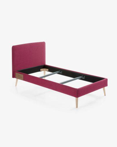 Dyla bed 90 x 190 cm burgundy
