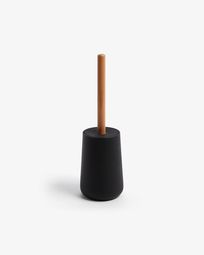 Jenning black and beech wood toilet brush
