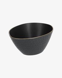 Large Manami ceramic bowl in black