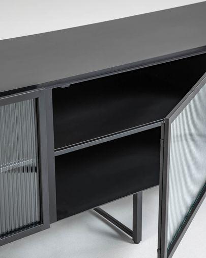 Moble TV Trixie metall negre 180 x 58 cm