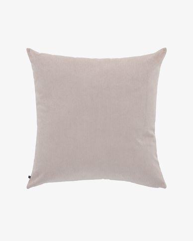 Pink corduroy Namie cuchion cover 60 x 60 cm