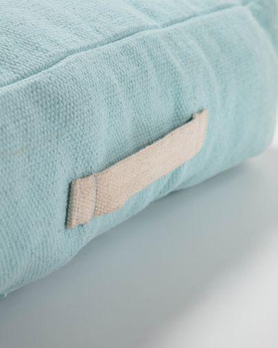 Sarit 100% katoen blauw vloerkussen 60 x 60 cm