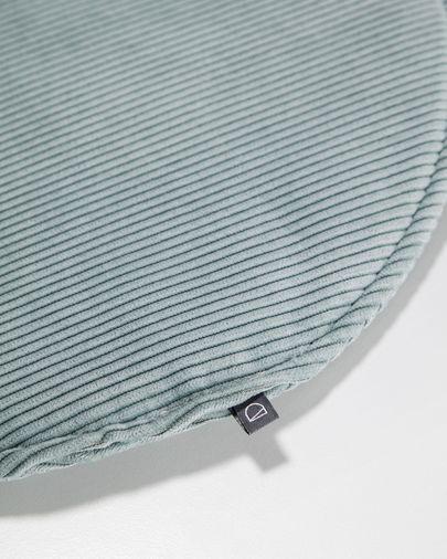 Almofada para cadeira redonda Sora bombazine turquesa Ø 35 cm