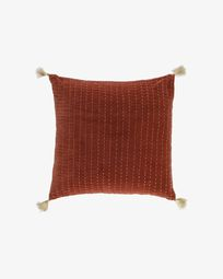 Berenice maroon corduroy cushion cover 45 x 45 cm