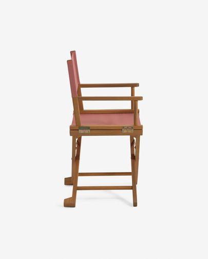 Silla plegable de exterior Dalisa terracota y madera maciza acacia FSC 100%