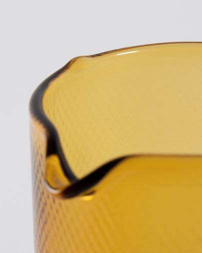 Jarra Nausica de cristal naranja