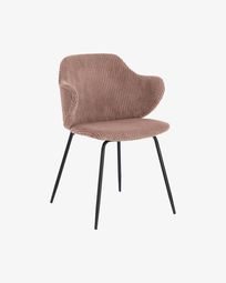 Suanne chair in pink thick corduroy