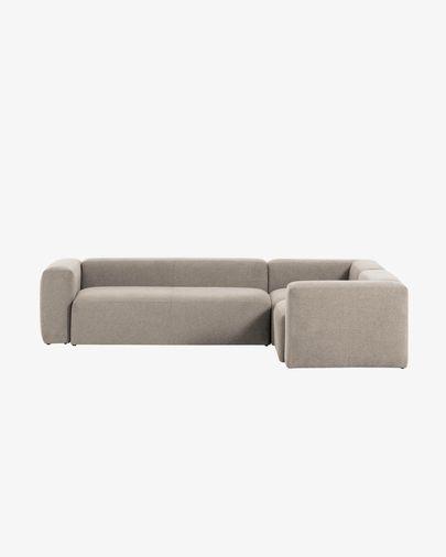 Beige Blok 4 seater corner sofa 320 x 230 cm