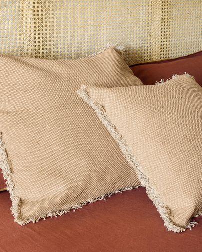 Camily salmon cushion cover 45 x 45 cm