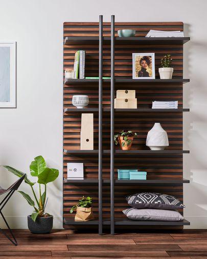 Prestatgeria Kesia amb xapa de noguera 106 x 183 cm