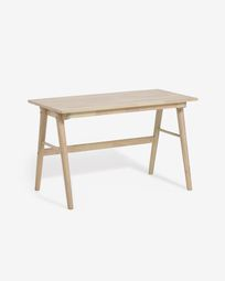 Curie solid rubber wood desk, 120 x 60 cm