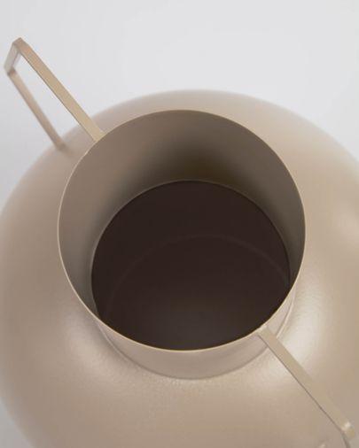 Jarrón Bellabel de metal marrón claro 38 cm