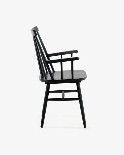 Cadira amb braços Tressia negra