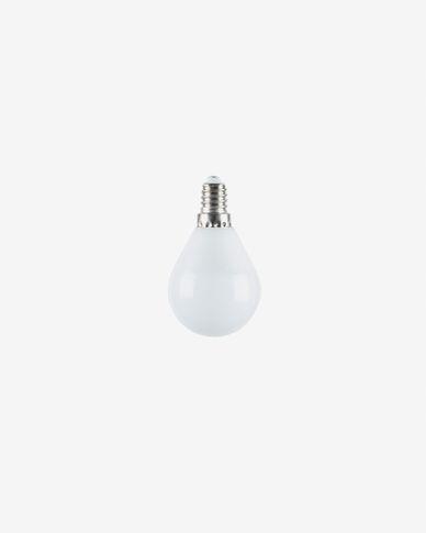 Bombilla LED Bulb E14 de 4W y 45 mm luz neutra