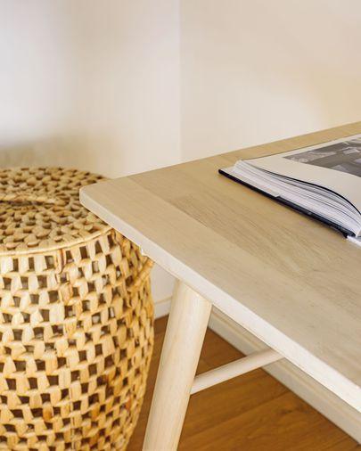 Curie solid rubber wood desk, 120 x 60 cm