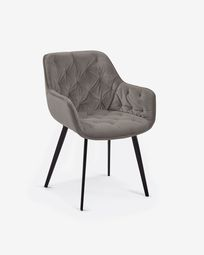 Chair Mulder grey velvet